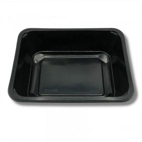 Caserole 1 compartiment, PP negru, termosudabile, (100buc) Produse 46,41lei