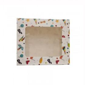 Cutie mini prajituri, carton cu fereastra, design party, 24.5*34.5*6.5 cm (25buc) Produse 78,65lei