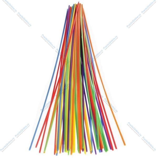 Paie Jumbo colorate 60cm amb. la set (100buc) Produse 15,29lei