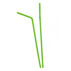 Paie Bio flexibile, verzi, amb. indiv. (250buc) Paie biodegradabile 17,90RON