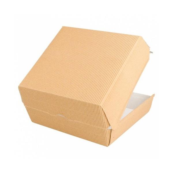 Cutii de burger, carton natur|ripperd, 18x17.5x7.5cm (50buc) Produse 100,65lei