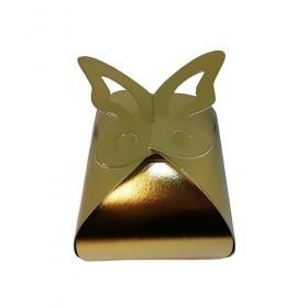 Cutii carton prajituri, plastifiate, aurii, butterfly, 10*10* h11cm (100buc) Cutii prajituri 177,70lei