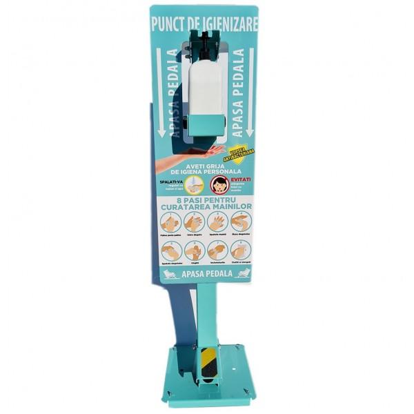 Punct de igienizare cu pedala si recomandari, pentru adulti, 115cm Dezinfectati 562,32lei