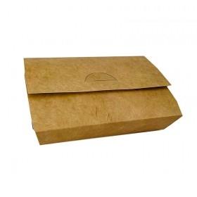 Cutie carton natur, Take-Away mediu, 18*11.5*4.3cm (65buc) Cutii take-away 54,56lei