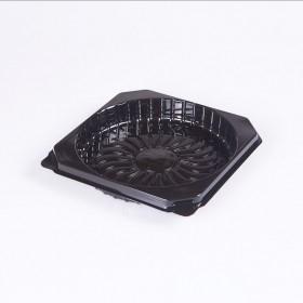 Caserola cu capac pentru tort, baza neagra, 185*h55 mm (100buc)