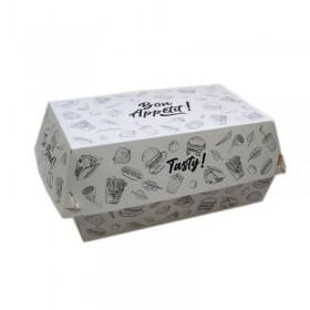 Cutie carton pentru meniu, design Urban, 18*11.5*8.7 cm (100buc) Cutii take-away 104,65lei