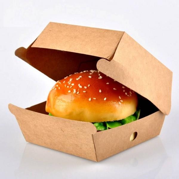 Cutii de burger, carton kraft, 15x15x8cm (600buc) Produse 349,99lei